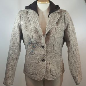 NILS Wool Embroidered Hooded Coat size M